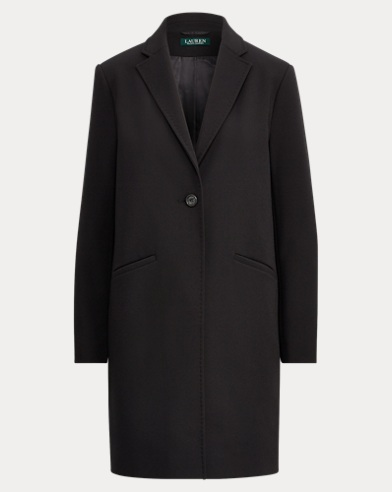 Stretch Crepe One-Button Coat