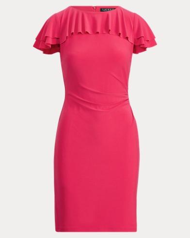 Ruffled Stretch Jersey Dress