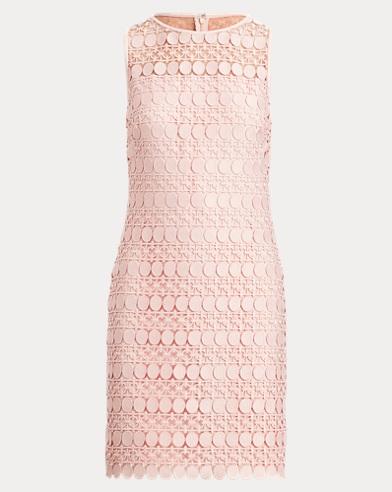 Lace-Mesh Sleeveless Dress