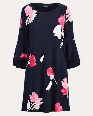 Flutter-Sleeve Floral Dress