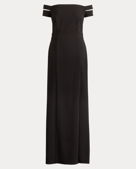 Jersey Off-the-Shoulder Gown