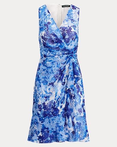Printed Georgette V-Neck Dress