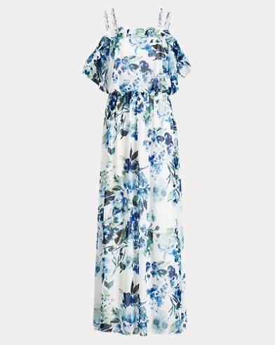 Floral Cold-Shoulder Maxidress