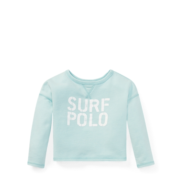 Ralph Lauren Terry Graphic Sweatshirt Crystal Blue 2T