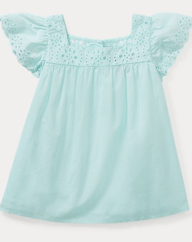 Ruffled Cotton Peplum Top
