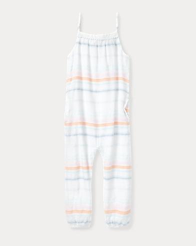 Striped Cotton Romper