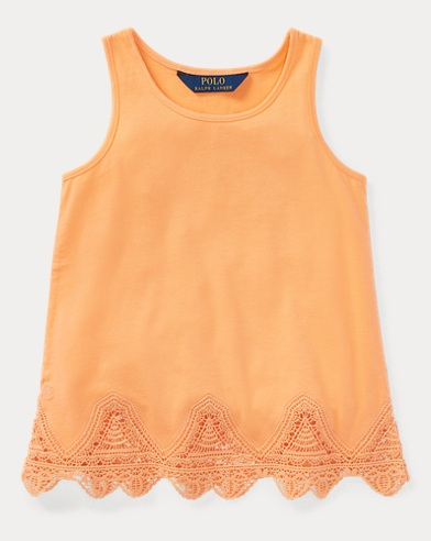 Lace-Trim Jersey Tank Top