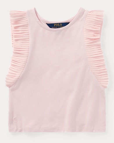 Jersey Flutter-Sleeve Top