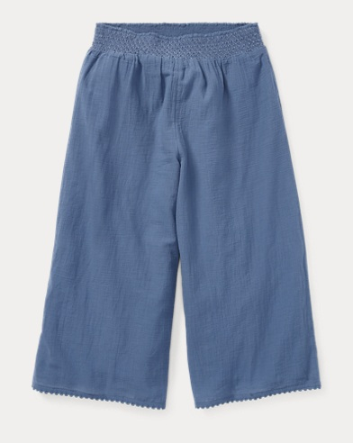 Smocked Cotton Culotte