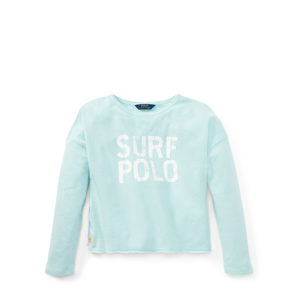 Ralph Lauren Terry Graphic Sweatshirt Crystal Blue S