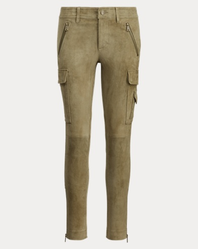 Suede Skinny Cargo Pant