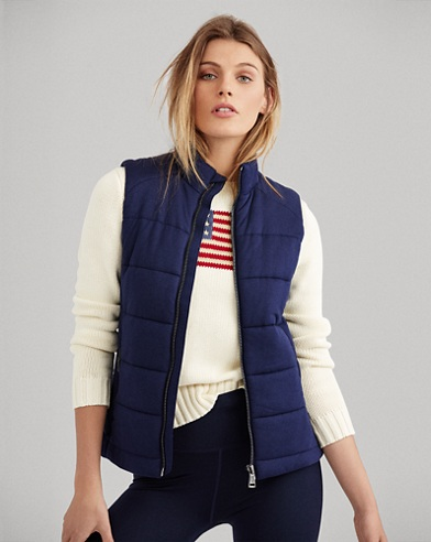 Quilted Stretch Jersey Vest