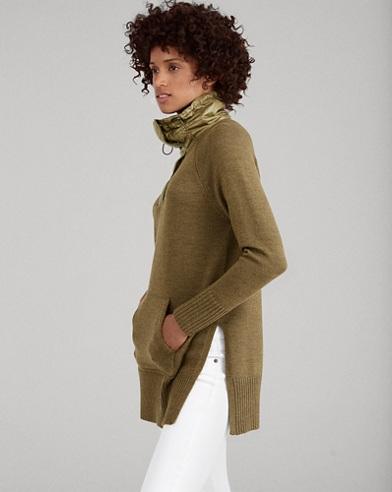 Merino-Taffeta Tunic Sweater
