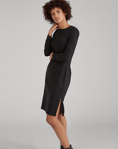 Slim Fit Stretch Cady Dress