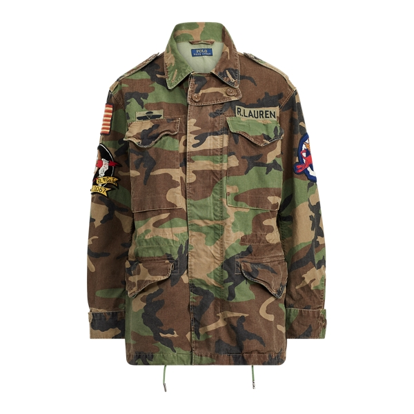 Ralph Lauren Camo Military Combat Jacket Camo Multi Xs