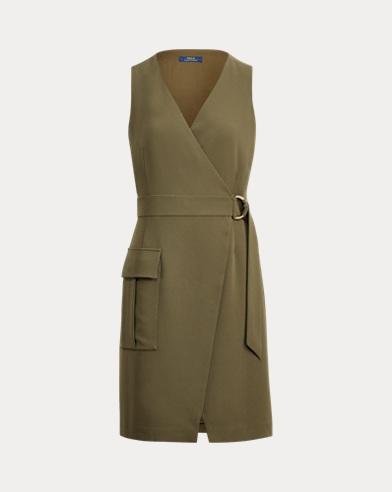 Stretch Cady Wrap Dress