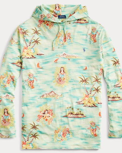 Tropical Cotton Hooded T-Shirt