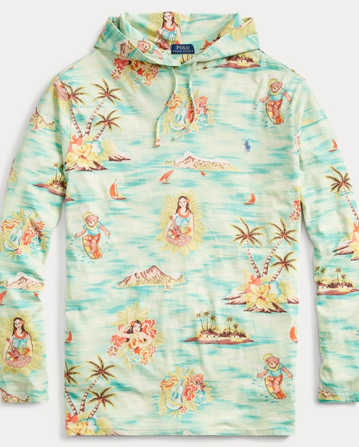 Tropical Cotton Hooded T Shirt by Ralph Lauren