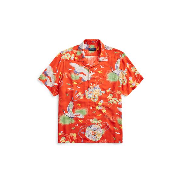 Ralph Lauren Classic Fit Camp Shirt Crane Hawaiian 1X Big