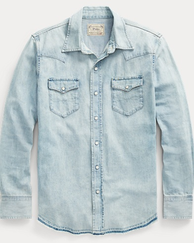 Classic Fit Cotton Denim Shirt