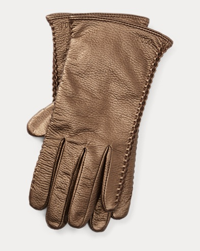 Corset-Stitched Leather Gloves