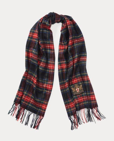 Tartan Cashmere-Wool Scarf