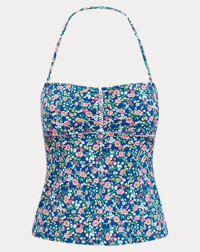 Floral Strapless Tankini Top