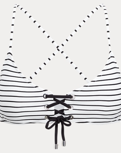 Lace-Up-Front Bikini Top
