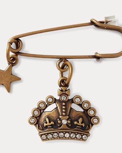 Jeweled Crown Pin