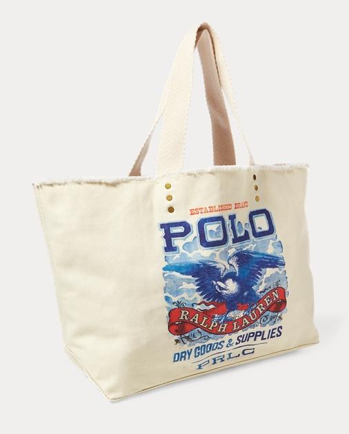 produt-image-1.0. produt-image-2.0. produt-image-3.0. Women Accessories  Handbags Eagle-Print Large Tote Bag. Polo Ralph Lauren a16bbda6e45ba