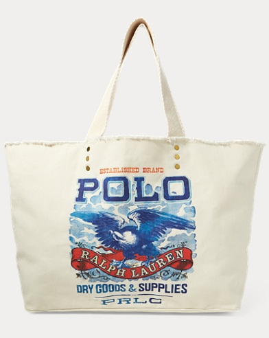Eagle-Print Large Tote Bag