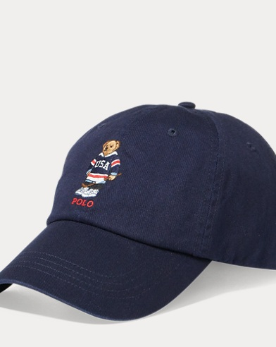 Hockey Polo Bear Chino Cap