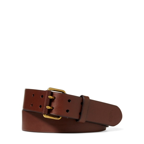 Leather Military Belt by Ralph Lauren