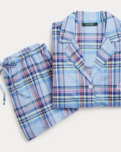 Plaid Lawn Sleep Short Set