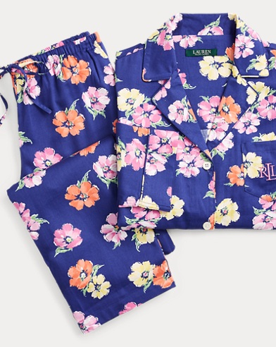 Floral Cotton-Blend Pajama Set
