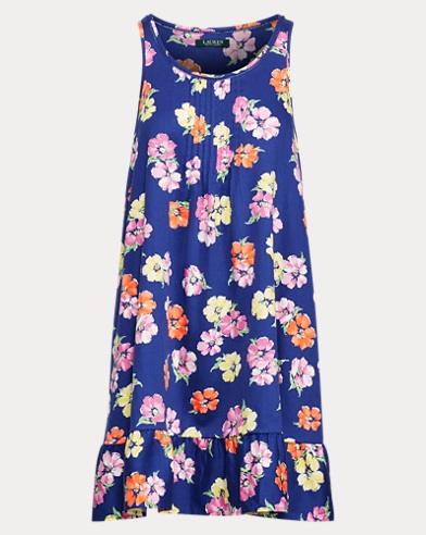 Floral Sleeveless Nightgown