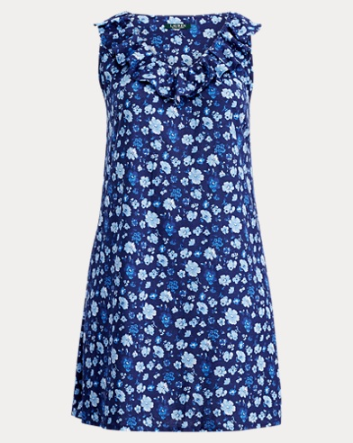Sleeveless Floral Cotton Gown
