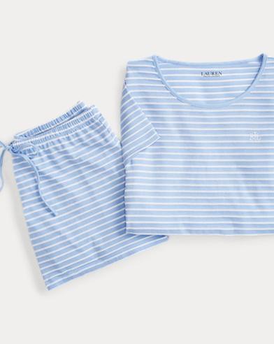 Striped Sleep Short Set