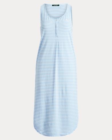 Cotton-Blend Tank Gown