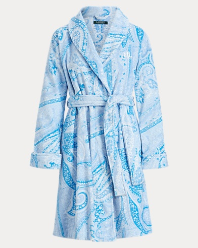 Paisley Cotton Terry Robe
