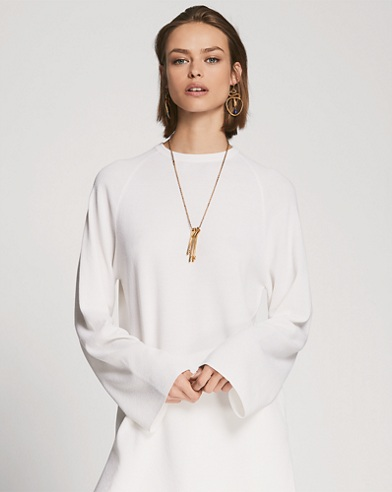 Wool-Silk Tunic Sweater