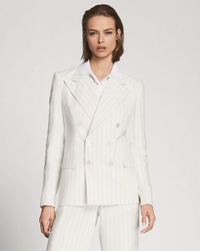 Ronnie Striped Linen Jacket