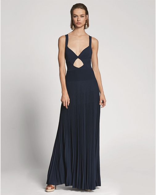 Aaa Quality Camisole Cutout Evening Dress Ralph Lauren Sast Online Sale Best Wholesale Cheap Sale Low Price Fee Shipping Sale New kqXHvS