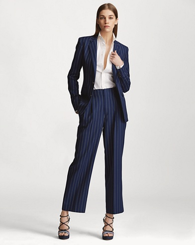 Kenley Striped Wool Pant