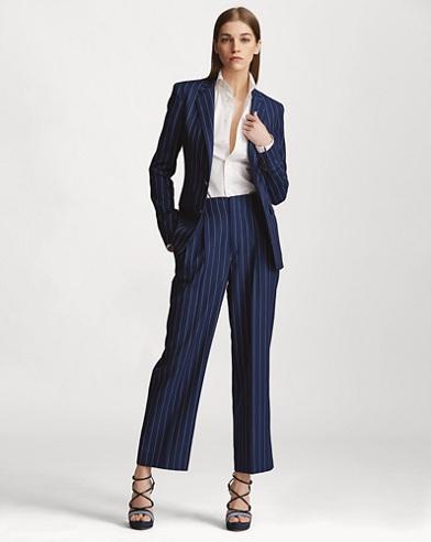 Kenley Striped Wool Pant