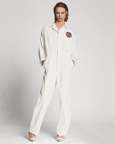 Alstin Striped Cotton Jumpsuit