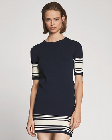 Cotton-Cashmere Sweater Dress