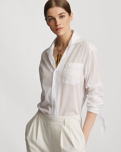 Corina Cotton Organdy Shirt