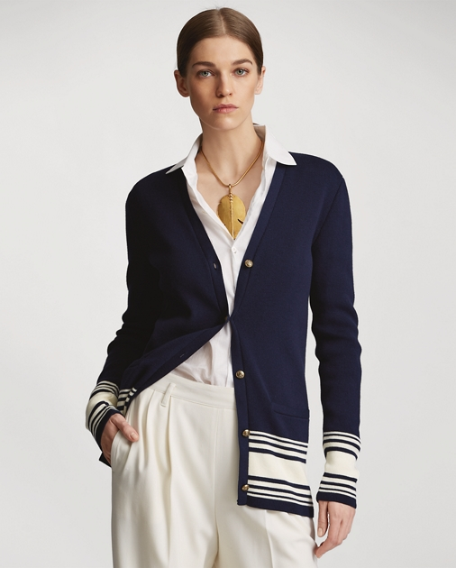 Cotton Cashmere Cardigan by Ralph Lauren