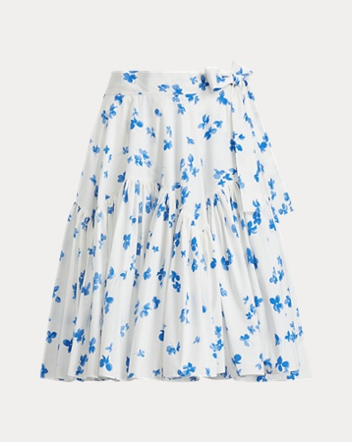 Fabian Floral Cotton Skirt